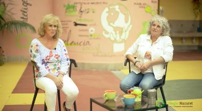 Un café contigo, con Irene cocinera del centro y Piedad monitora de comedor