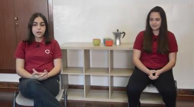 Un café contigo, con las alumnas de 2º ESO, recientemente ganadoras del concurso. Jóvenes por el agua frente el cambio climático.